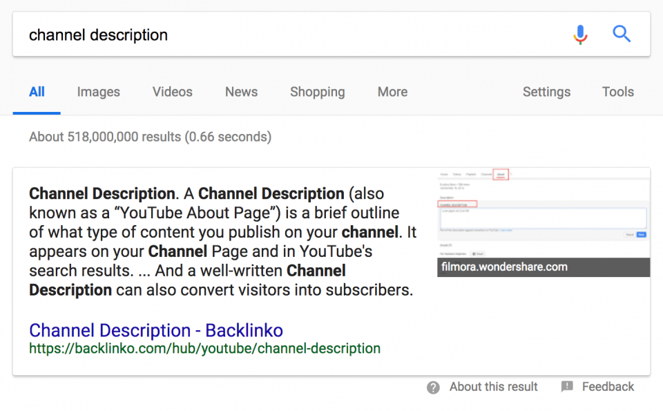 Xếp hạng trong mục Featured Snippets 05